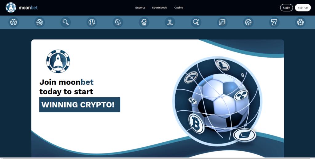 Moonbet Sportsbook and Casino homescreen